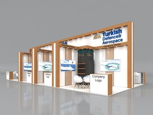 3D stall height 430 cm model
