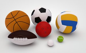 generic sport balls tennis 3D