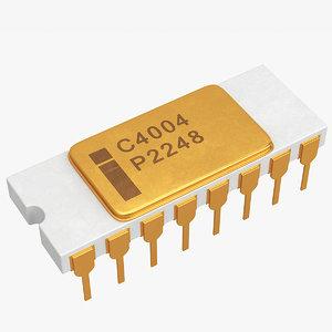 intel 4004 3D model