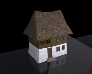3D low-poly house model