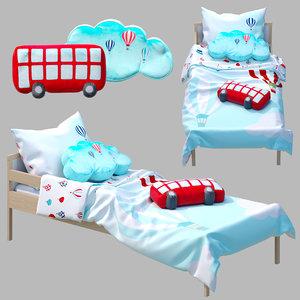 3D bed sniglar ikea pillow