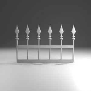 3D gate door spears model