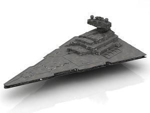 star destroyer spaceship 3D