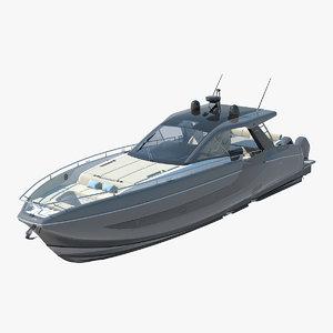 3D azimut verve 47 yacht
