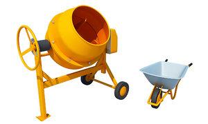 mixer concrete cement 3D model