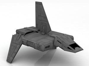 3D imperial shuttle