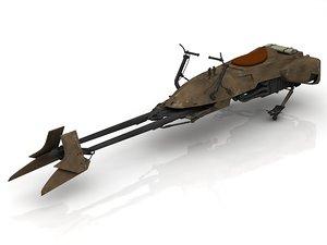 3D star wars vehicle concept bike model