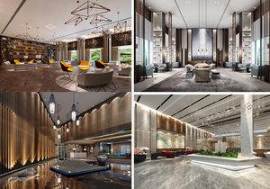 3D lobby scene interior model