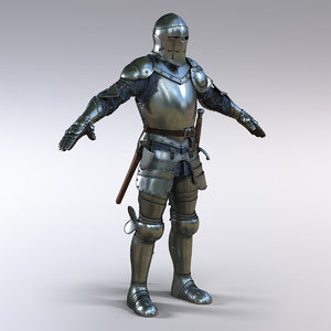 3D knight weapons