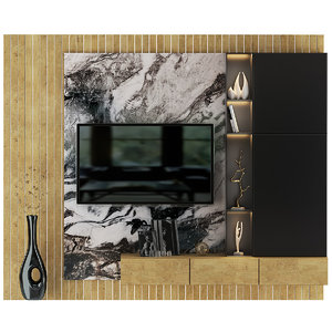3D model tv wall 7