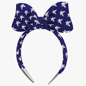 3D headband bow v2 band model