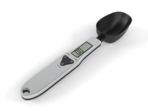 3D electronic lcd digital spoon model
