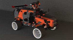 3D truck war model