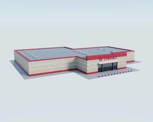 3D model target store shop