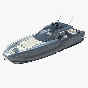 3D model azimut verve 47 boat yacht