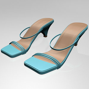 3D stylish square-toe high-heel strappy