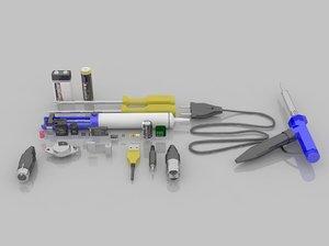 components 3D model