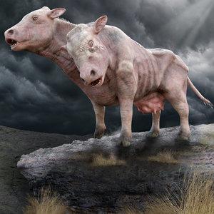 cow fantasy pbr model