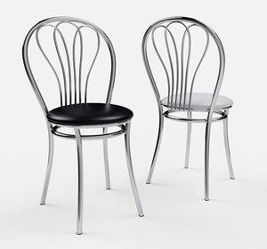 3D kitchen metal chair