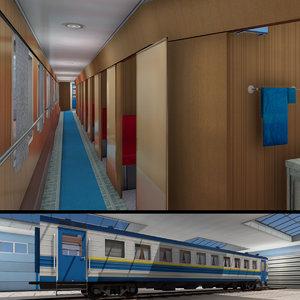 passenger trains 3D model