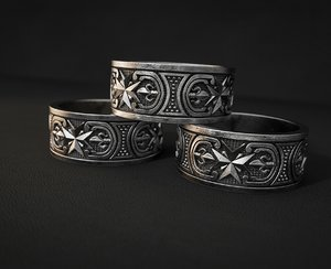 3D jewelry ring pattern