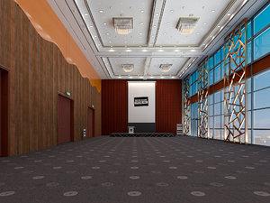 congress hall meeting room model