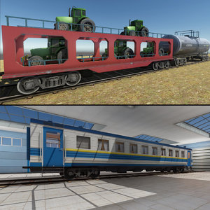 trains package 3D model