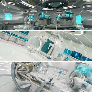 3D futuristic model