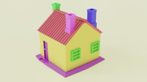 3D model collored house