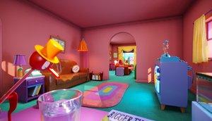 3D simpson livingroom model