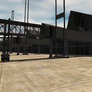 3D airport buildings model