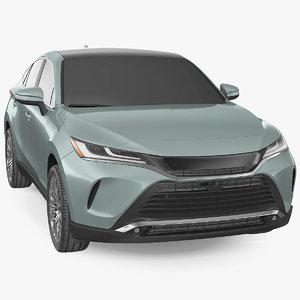 hybrid suv simple interior car 3D model