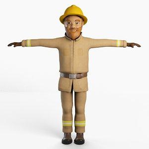 cartoon character model