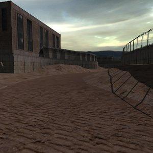 3D dry riverbed model