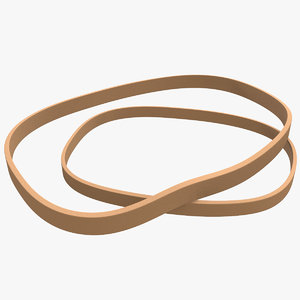 3D 2 rubber bands model