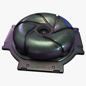 3D sci-fi unit model