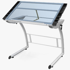 3D tiltable glass drawing table model