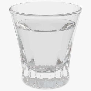 faceted glass vodka model