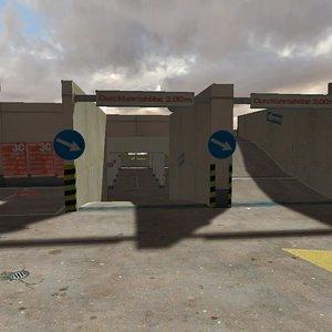 3D parking garage model