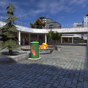 shopping mall 3D