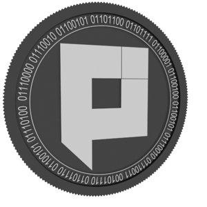 pixel pxl black coin 3D