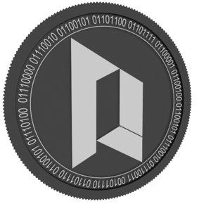 portal black coin 3D model
