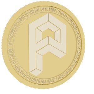 3D model producepay chain gold coin