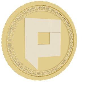 3D pixel pxl gold coin