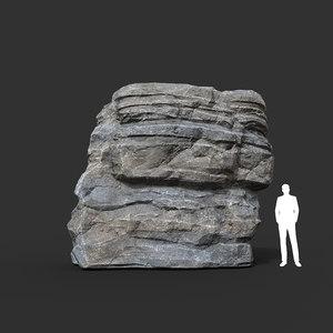 3D model package polys cliff landscape mountain
