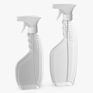spray bottles plastic 3D model