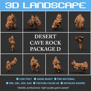 3D cave desert rock polys