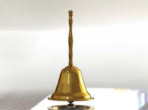 hand bell 3D