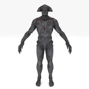 3D demon executor rigged model