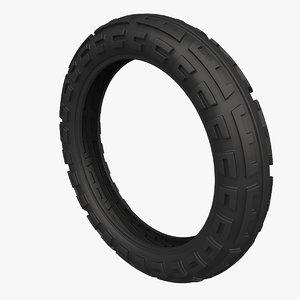 3D model monowheel tire